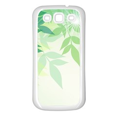 Spring Leaves Nature Light Samsung Galaxy S3 Back Case (White)