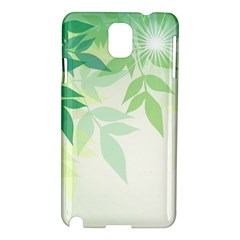 Spring Leaves Nature Light Samsung Galaxy Note 3 N9005 Hardshell Case