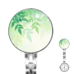 Spring Leaves Nature Light Stainless Steel Nurses Watch