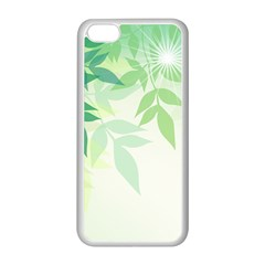 Spring Leaves Nature Light Apple iPhone 5C Seamless Case (White)