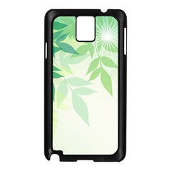 Spring Leaves Nature Light Samsung Galaxy Note 3 N9005 Case (Black)