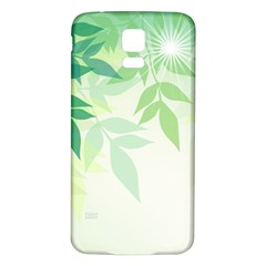 Spring Leaves Nature Light Samsung Galaxy S5 Back Case (white)