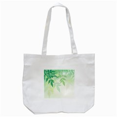 Spring Leaves Nature Light Tote Bag (White)
