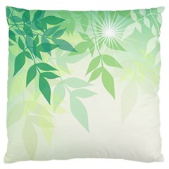 Spring Leaves Nature Light Standard Flano Cushion Case (Two Sides)