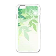 Spring Leaves Nature Light Apple iPhone 6/6S White Enamel Case
