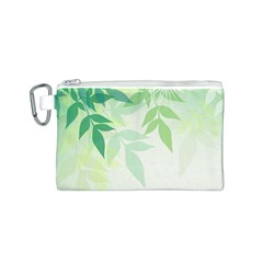 Spring Leaves Nature Light Canvas Cosmetic Bag (s)