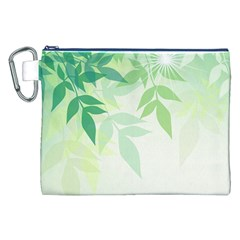 Spring Leaves Nature Light Canvas Cosmetic Bag (xxl)