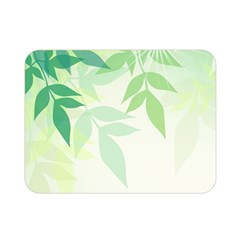 Spring Leaves Nature Light Double Sided Flano Blanket (Mini)