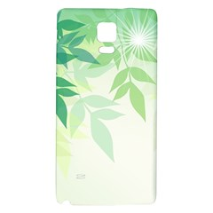 Spring Leaves Nature Light Galaxy Note 4 Back Case