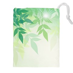 Spring Leaves Nature Light Drawstring Pouches (xxl)