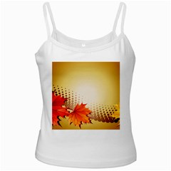 Background Leaves Dry Leaf Nature White Spaghetti Tank