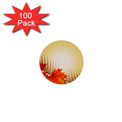 Background Leaves Dry Leaf Nature 1  Mini Buttons (100 pack)