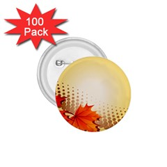 Background Leaves Dry Leaf Nature 1.75  Buttons (100 pack)