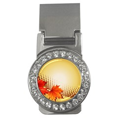 Background Leaves Dry Leaf Nature Money Clips (CZ)