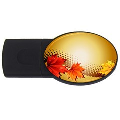 Background Leaves Dry Leaf Nature USB Flash Drive Oval (2 GB)