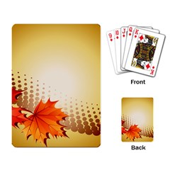 Background Leaves Dry Leaf Nature Playing Card