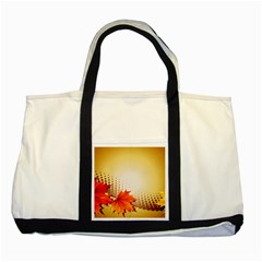 Background Leaves Dry Leaf Nature Two Tone Tote Bag