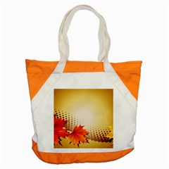 Background Leaves Dry Leaf Nature Accent Tote Bag