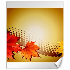 Background Leaves Dry Leaf Nature Canvas 8  x 10