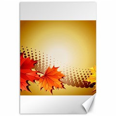 Background Leaves Dry Leaf Nature Canvas 12  x 18