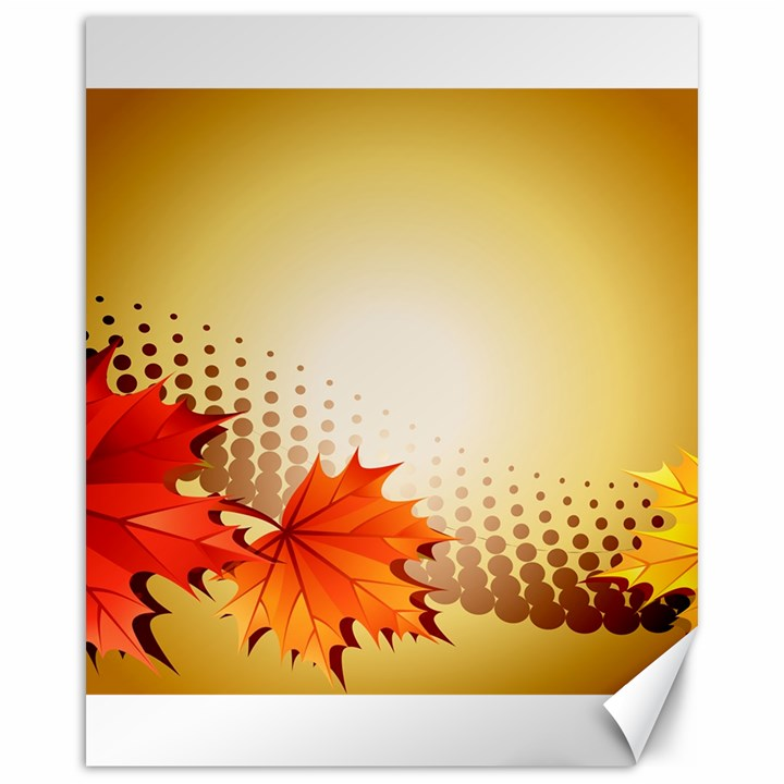 Background Leaves Dry Leaf Nature Canvas 16  x 20