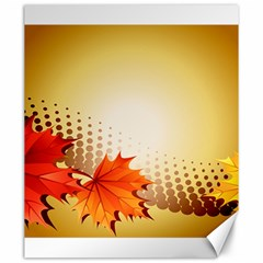 Background Leaves Dry Leaf Nature Canvas 20  X 24