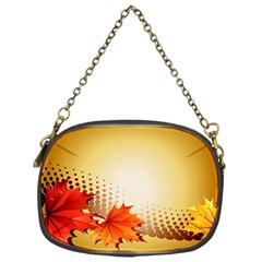 Background Leaves Dry Leaf Nature Chain Purses (one Side)
