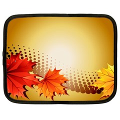 Background Leaves Dry Leaf Nature Netbook Case (xxl)