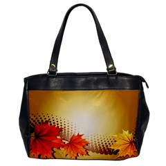 Background Leaves Dry Leaf Nature Office Handbags