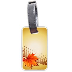 Background Leaves Dry Leaf Nature Luggage Tags (Two Sides)
