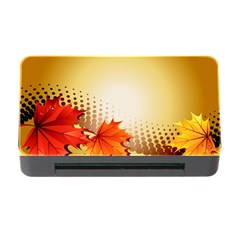 Background Leaves Dry Leaf Nature Memory Card Reader with CF