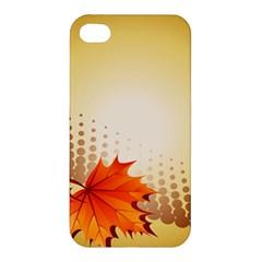 Background Leaves Dry Leaf Nature Apple Iphone 4/4s Hardshell Case