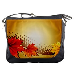 Background Leaves Dry Leaf Nature Messenger Bags