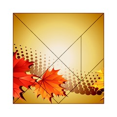 Background Leaves Dry Leaf Nature Acrylic Tangram Puzzle (6  x 6 )