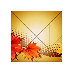 Background Leaves Dry Leaf Nature Acrylic Tangram Puzzle (4  x 4 )
