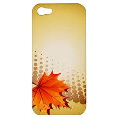 Background Leaves Dry Leaf Nature Apple iPhone 5 Hardshell Case