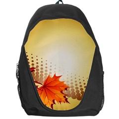 Background Leaves Dry Leaf Nature Backpack Bag