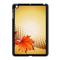 Background Leaves Dry Leaf Nature Apple Ipad Mini Case (black)