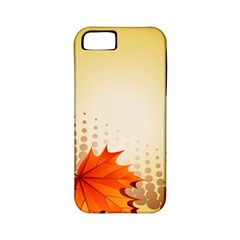 Background Leaves Dry Leaf Nature Apple iPhone 5 Classic Hardshell Case (PC+Silicone)