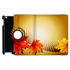 Background Leaves Dry Leaf Nature Apple iPad 3/4 Flip 360 Case