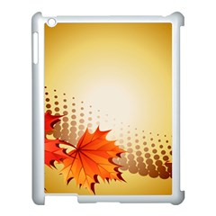Background Leaves Dry Leaf Nature Apple iPad 3/4 Case (White)