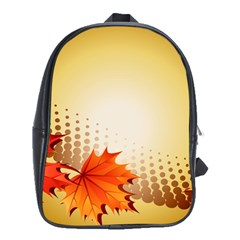 Background Leaves Dry Leaf Nature School Bags (XL)