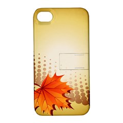 Background Leaves Dry Leaf Nature Apple iPhone 4/4S Hardshell Case with Stand