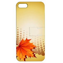 Background Leaves Dry Leaf Nature Apple iPhone 5 Hardshell Case with Stand
