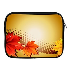 Background Leaves Dry Leaf Nature Apple iPad 2/3/4 Zipper Cases
