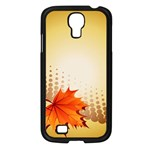 Background Leaves Dry Leaf Nature Samsung Galaxy S4 I9500/ I9505 Case (Black) Front