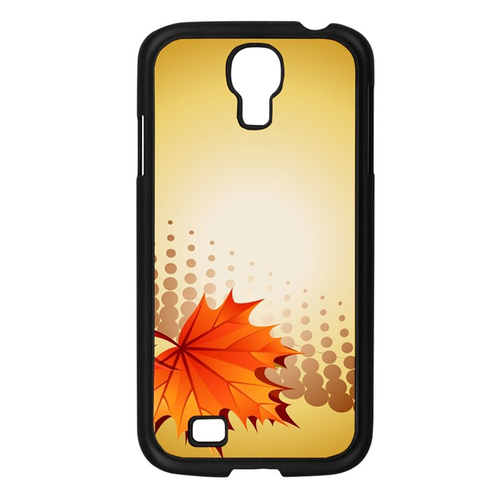 Background Leaves Dry Leaf Nature Samsung Galaxy S4 I9500/ I9505 Case (Black)