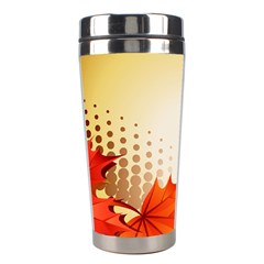 Background Leaves Dry Leaf Nature Stainless Steel Travel Tumblers