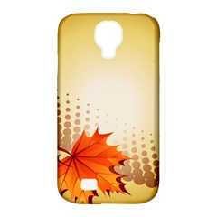 Background Leaves Dry Leaf Nature Samsung Galaxy S4 Classic Hardshell Case (PC+Silicone)