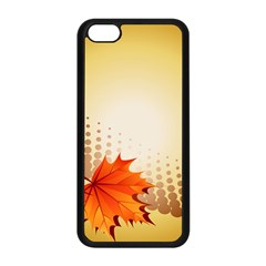 Background Leaves Dry Leaf Nature Apple iPhone 5C Seamless Case (Black)